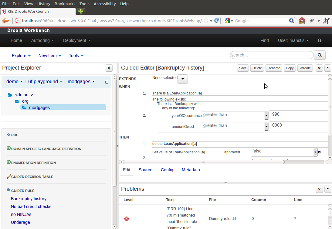 Drools Documentation Power Door Locks Quotnegative Triggerquot Typical Import Configuration Workbench