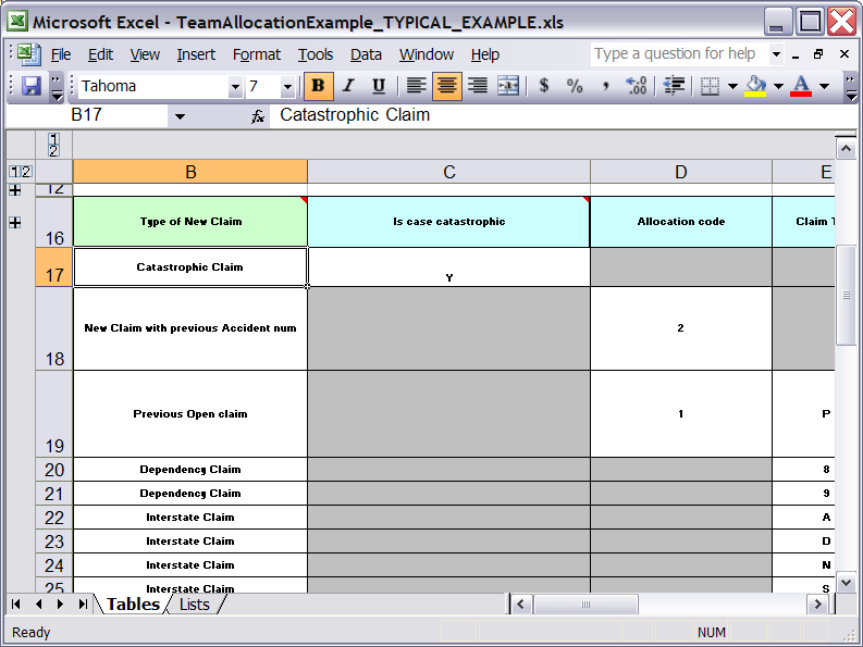 compliance tracking spreadsheet