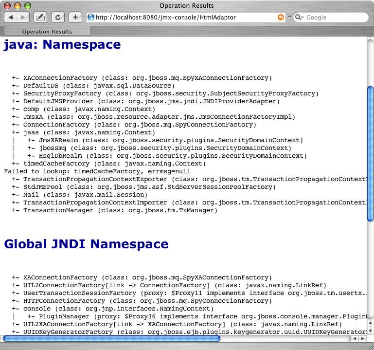 Chapter 3  Naming on JBoss