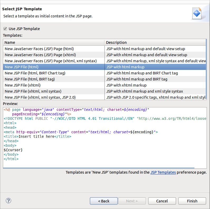 Chapter 5  Developing a simple JSP web application