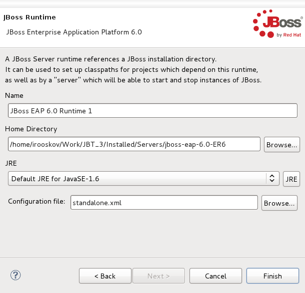 Chapter 2  Runtimes and Servers in the JBoss AS plugin
