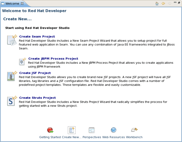Chapter 1  Getting Started with JBoss Developer Studio