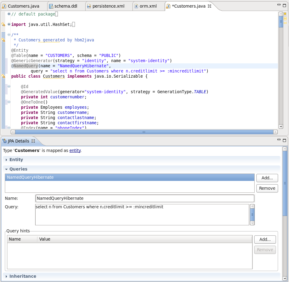Chapter 4 eclipse plugins namedquery support in dali ccuart Image collections