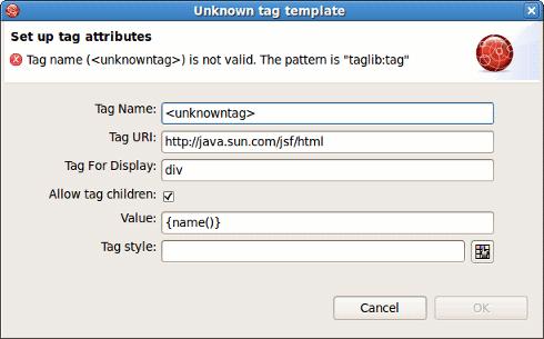 Facelet html validator finished validating windows