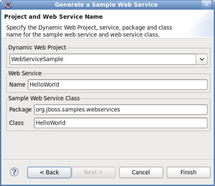 Chapter 6. Sample Web Service wizards